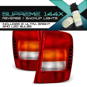 full Smd Backup Red Tail Lights Replacement For 99 04 Jeep Grand Cherokee New