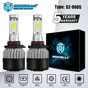 Ironwalls 9005 Hb3 Led Headlight Kit 1800w 270000lm Hi Lo Beam Bulbs 6000k White