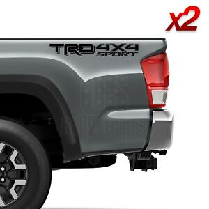 Set Of 2 2019 Trd 4x4 Sport Vinyl Decals For Toyota Tacoma Tundra 4runner