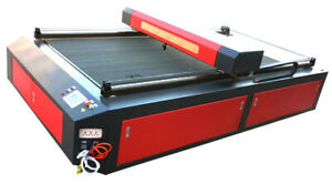 300 Watt Co2 Laser Cutting Machine 4x8 Metal And Non Metal With Cooling System