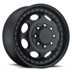 19 5x6 75 Vision 181 Hauler Dually 8x200 Et 143 Matte Black Wheels set