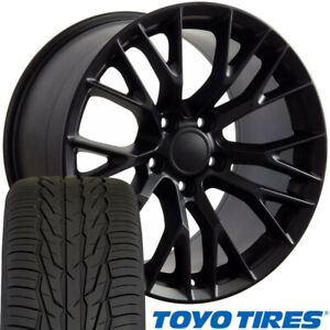 New Black Rims Toyo Tires Set Fit Chevrolet Corvette Pontiac Firebird 17x9 5