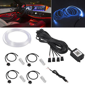 Car Ambient Lighting Strip Kit Light Bar Auto Led Rgb Phone Control Car Interior