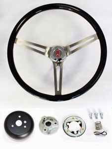 69 93 Oldsmobile Cutlass 442 98 Black Wood Steering Wheel High Gloss Finish 15