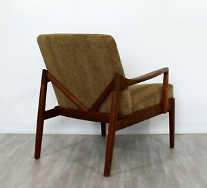 Mid Century Modern Danish 135 Teak Lounge Chair By Tove Edvard Kindt Larsen