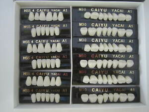 3 Complete Sets Acrylic Denture Teeth A1 A2 A3 A3 5 Size S M L X l 84 In Box