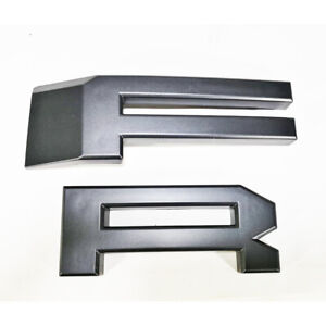 Fr F R Letters 2009 2014 For Ford F150 Raptor Style Grille Grill Matt Gray