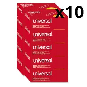 Smooth Paper Clips Wire Jumbo Silver 100 box 10 Boxes pack Pack Of 10