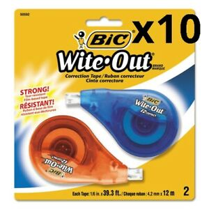 Wite out Ez Correct Correction Tape Non refillable 1 6 X 472 2 pack Pack