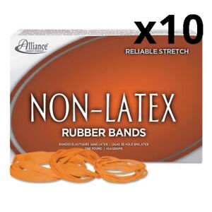 Non latex Rubber Bands Size 33 0 04 Gauge Orange 1 Lb Box 720 box Pack