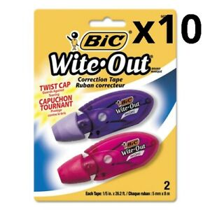 Wite out Mini Twist Correction Tape Non refillable 1 5 X 314 2 pack Pack
