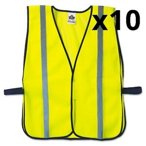 Glowear 8020hl Safety Vest Polyester Mesh Hook Closure Lime One Size Fit All