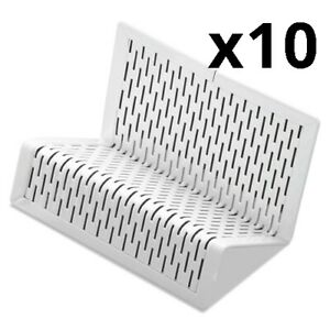 Urban Collection Punched Metal Business Card Holder Holds 50 2 X 3 1 2 White