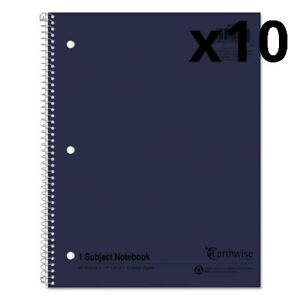 Earthwise By Oxford Recycled 1 subject Notebooks 11 X 8 1 2 80 Sheets