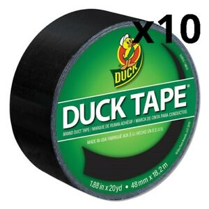 Colored Duct Tape 3 Core 1 88 X 20 Yds Black Pack Of 10