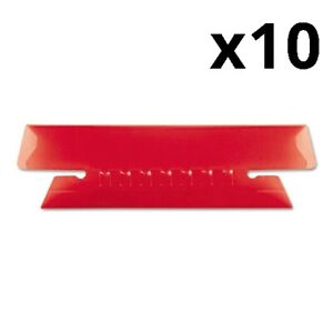 Hanging File Folder Tabs 1 3 Tab 3 1 2 Inch Red Tab white Insert 25 pack
