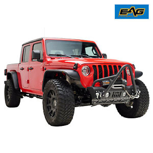 Eag Stinger Front Bumper Stubby With Winch Plate Fit For 2020 Jeep Jt Gladiator