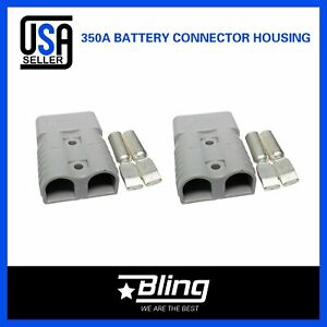 2x Universal 350amp Grey Connectors W terminal Power Plug Dc Battery Connector