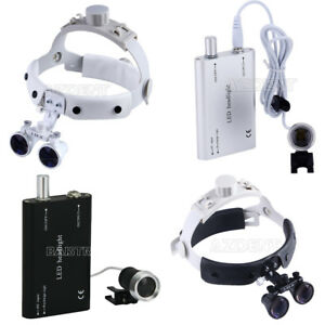 3 5x Headband Dental Surgical Medical Binocular Loupes Led Headlight 2 Color