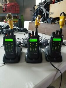 Lot Of 3 Motorola Xpr 6580 Radios With Microphones Chargers And Anchors