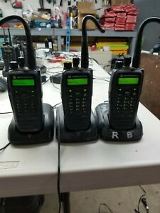 Lot Of 3 Motorola Xpr 6550 Radios With Microphones Chargers