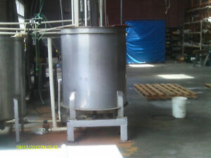 Stainless Steel Tank 250 Gallon Open Top With Legs
