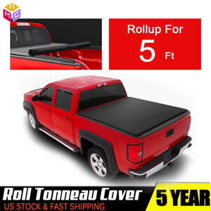 5ft 60 Tonneau Cover Short Bed Roll Up For 2015 2018 Nissan Frontier Kc Pickup