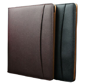 Leather Document Case A4 Notepad Professional Business Paper Organizer Holder