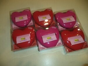 6 Post it Pop up Notes Dispenser 3 X 3 inch Notes Breast Cancer Heart Free Ship