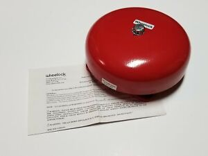 Wheelock 43t g6 24 Fire Alarm Red Bell 24vac 43t g6 24 r