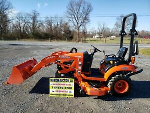 2017 Kubota Bx1880 Compact Loader Tractor W belly Mower 65 Hours Warranty