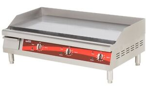Countertop Electric Griddle 36 Restaurant Kitchen Commercial Flat Top Grill