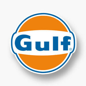 Gulf Logo Vinyl Sponsor Decal Sticker Vintage Classic Gas Petrol Racing