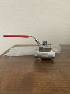 1 2 Ball Valve Stainless Steel Locking Handle Lmh3 Cf8m new Kf Contromatics