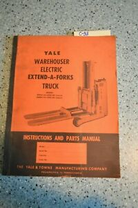 C 33 Yale Warehouse Electric Extend a forks Truck Parts Manual