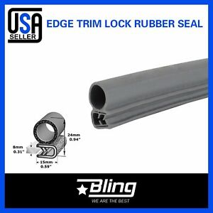 36inch Car Auto Parts Door Trunk Guard Edge Trim Lok Seal Rubber Strip Bulb Gray