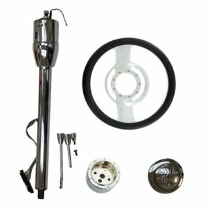 Manual Column 30 Gm No Key And Adapter And 14 Steering Wheel And Horn Button