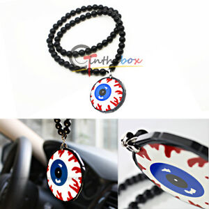 Jdm Blood Eyes Ball Car Rearview Mirror Hanging Dangling Pendant Ornament Decor