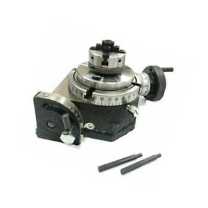 Rotary Table 4 Inch 100 Mm Tilting With 50 Mm Mini Lathe Scroll Chuck 12 X 1 Thr