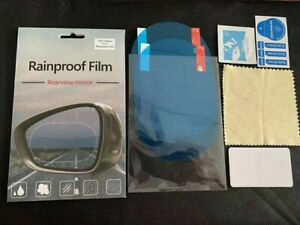 2 Car Rearview Mirror Rainproof Anti Fog Safety Driving Protective Film Sticker