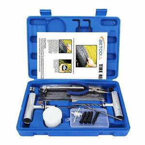 Betooll 67pc Tire Repair Kit For Car Motorcycle Atv Jeep Truck Tractor Flat