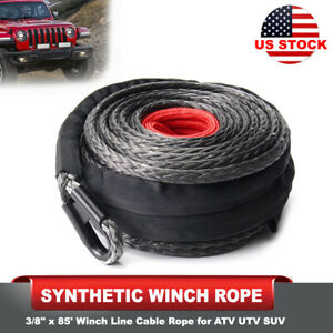 Synthetic Winch Rope 3 8 85 Winch Line Rope For Atv Utv Suv Motorcycle