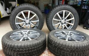 Set Of 4 Winter Wheels And Tires For Bmw X5 Like New