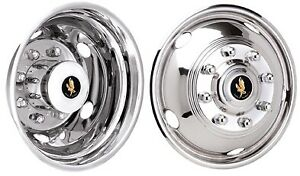 Dodge Ram 3500 17 Inch Stainless Steel Hubcaps Simulators 2003 2018 Bolt On