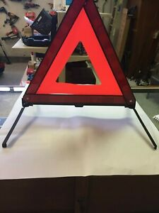 3 Foldable Warning Triangle Emergency Sign Reflective Safety Marked Red