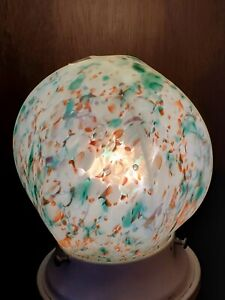 Original Art Deco Spatter Radio Lamp Czech Globe Art Globe Works Frankart Nuart