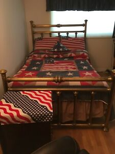 Antique Vintage Brass Bed Full Size Circa 1916 1918