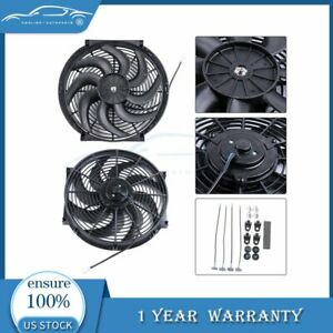 14 Inch Electric Radiator Cooling Fan For Acura Cl Csx El Ilx 12v 3000cfm 2x