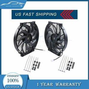 14 Inch Electric Radiator Cooling Fan For Buick Regal Lacrosse 12v 3000cfm 2x
