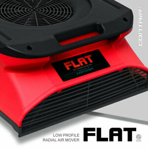 Contair Flat Low Profile Slim Radial Air Mover Carpet Blower Fan In Red Color